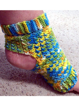 Crochet Pattern Yoga Socks : Pilates Peds (Crochet Yoga Socks) - Knitting Patterns and ...