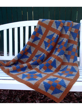 Double-Crossed Diamonds Crochet Afghan