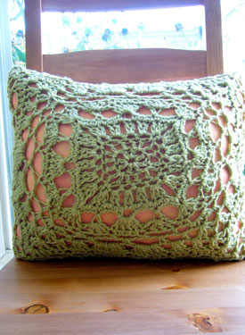 Decorative Crochet Lace Pillow Pattern
