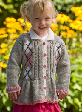Child Argyle Jacket with Cables