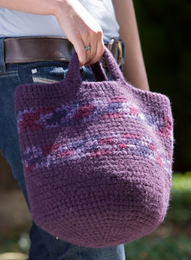 Felted Carry-All Crochet Tote