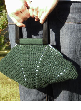 Meg: Crocheted Handbag