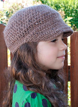 All Ages Newsboy Crochet Cap