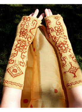 Knit Body Art Fingerless Gloves