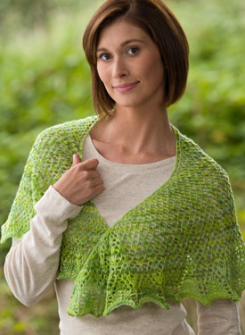 Crescent Meadow Shoulder Shawl