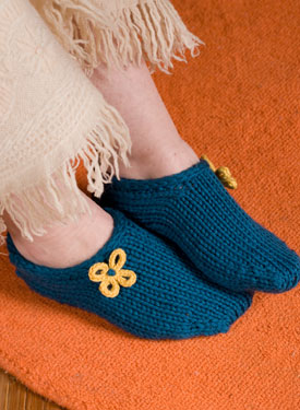Two Hour Toe Up Slippers Pattern