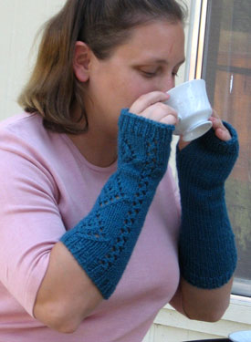 A Girl's Best Friend Fingerless Mitts