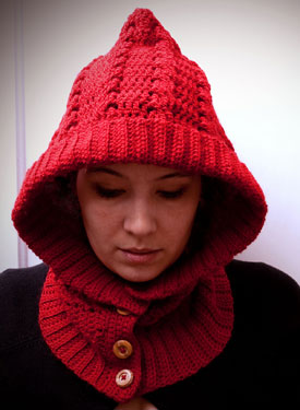 Crochet Through The Woods Hooded Neck Warmer