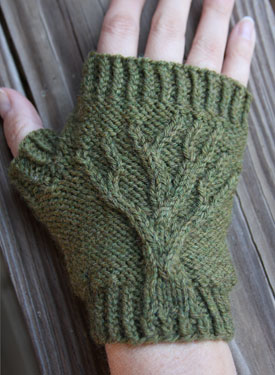 Tree of Life Fingerless Gloves
