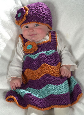 Chevron Stitch Jumper and Matching Beanie