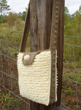 Shaggy Loop Crochet Shoulder Bag