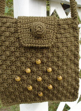 Cobblestone Crochet Shoulder Bag