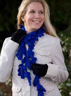 Glen Oaks Lacy Crochet Scarf