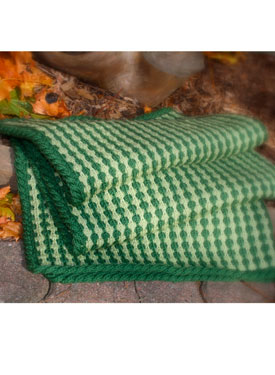 Tuck Stitch Lap Throw / Baby Blanket