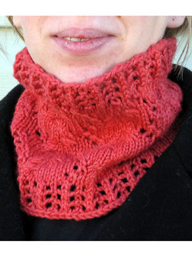 Winter Vine Cowl in Three Sizes