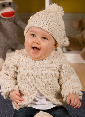 Boys Crochet Sweater & Hat
