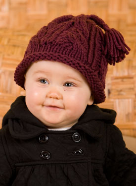 Quick Cabled Hat for All Ages