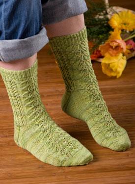Knitting Pattern For Fancy Socks : Feelin Fancy Socks - Knitting Patterns and Crochet ...