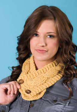 Double Knit Button Scarf