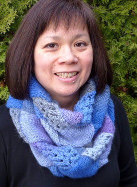 Lacy Entrelac Infinity Scarf