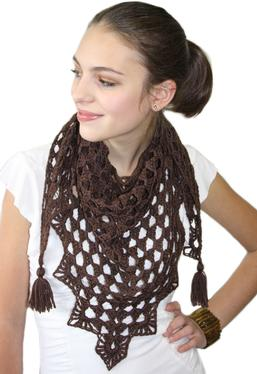 Pretty Triangle Crochet Scarf