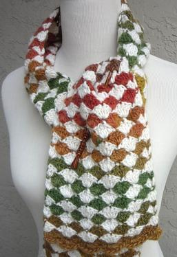 Diamond Exchange Crochet Scarf