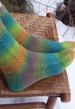 Winding Road Socks