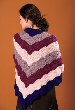 Cascading Kites Triangular Shawl