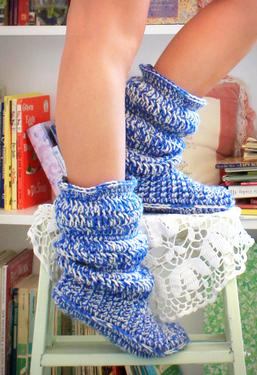 Cozy Slippers Crochet Boots
