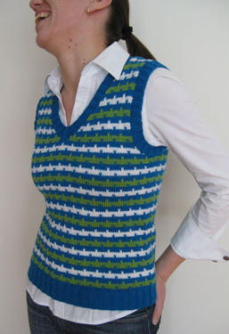 Colorful Stripes Vest