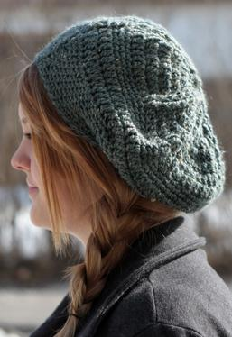 Star Beret Crochet Hat