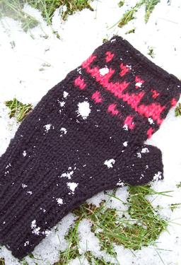 Cave Painting Hat and Mitts Set