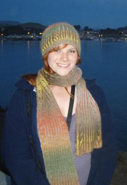Chromatography- Brioche Hat and Scarf Set