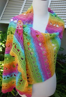 Cascading Stylish Crochet Shawl