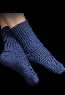 Toe-Up Twisted Knit Rib Socks