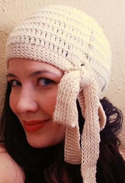 Crochet Millie Side Tie Cloche