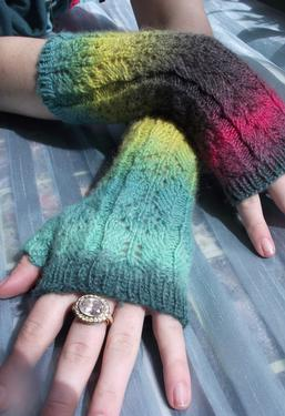 Art Deco Mitts