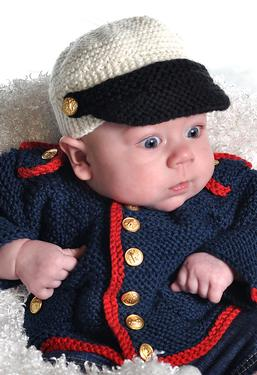Baby Boy Dress Blues Cardigan & Hat
