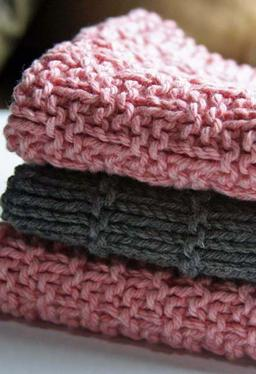 Kitchen Knitted Dishcloths - set of 3