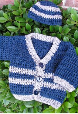 Crochet Pattern Central Baby Cardigans : Santiago Crochet Baby Sweater - Knitting Patterns and ...