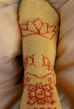 Knit Body Art - Lucky Lotus Socks