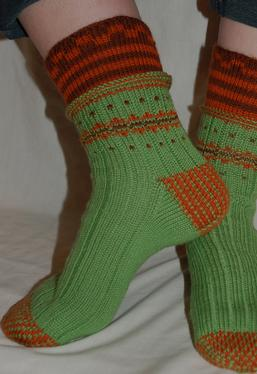 Double-Cuff Socks