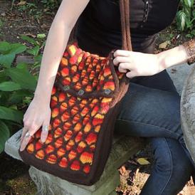 Animato Felted Messenger Bag