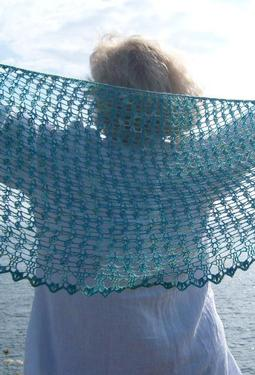 Crochet Crescent Sea Shawl