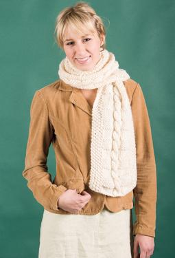 Textural Cabled Scarf