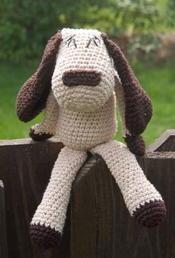 Playful Cotton Crochet Puppy
