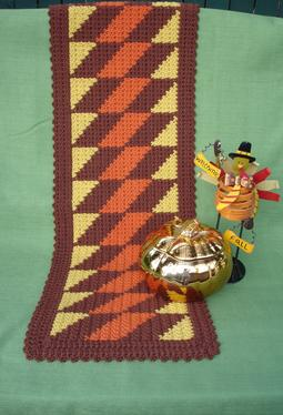 Fall Fiesta Crochet Table Runner