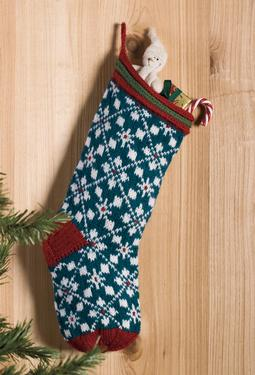 Scandanavian Christmas Stocking - Knitting Patterns and Crochet ...