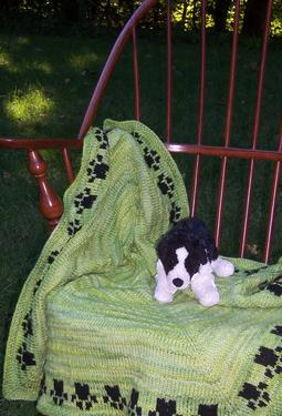 Puppy Paws Baby Blanket