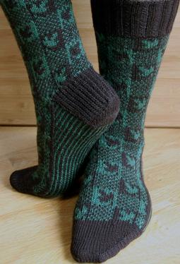 Plaid Play: Falling Leaves Socks